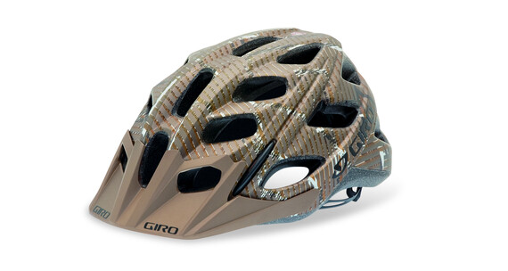 Giro Hex matte brown lines logo